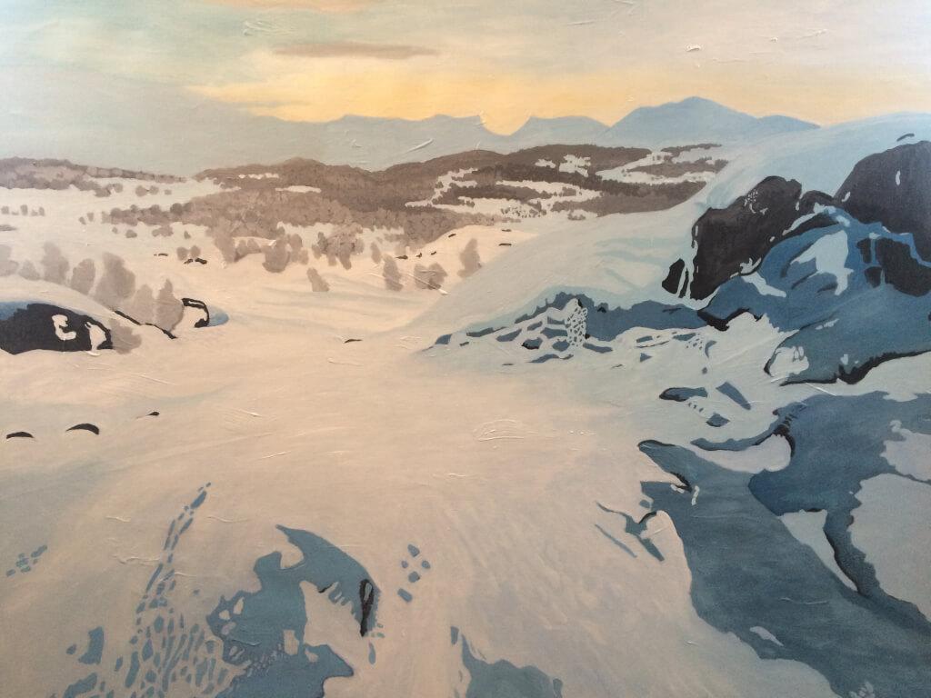 Charotta Rosengren målningar från abiskodalen
